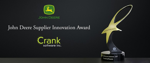 Crank Software wins 2017 John Deere Supplier Innovation Award