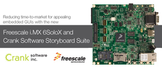 Freescale i.MX 6SoloX und Crank Software Storyboard Suite