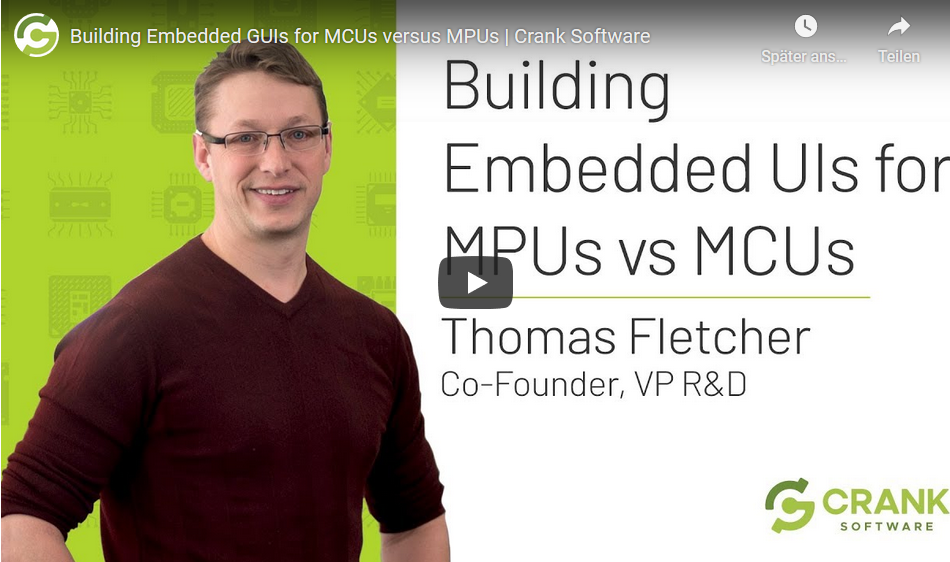 Building Embedded GUIs for MCUs versus MPUs